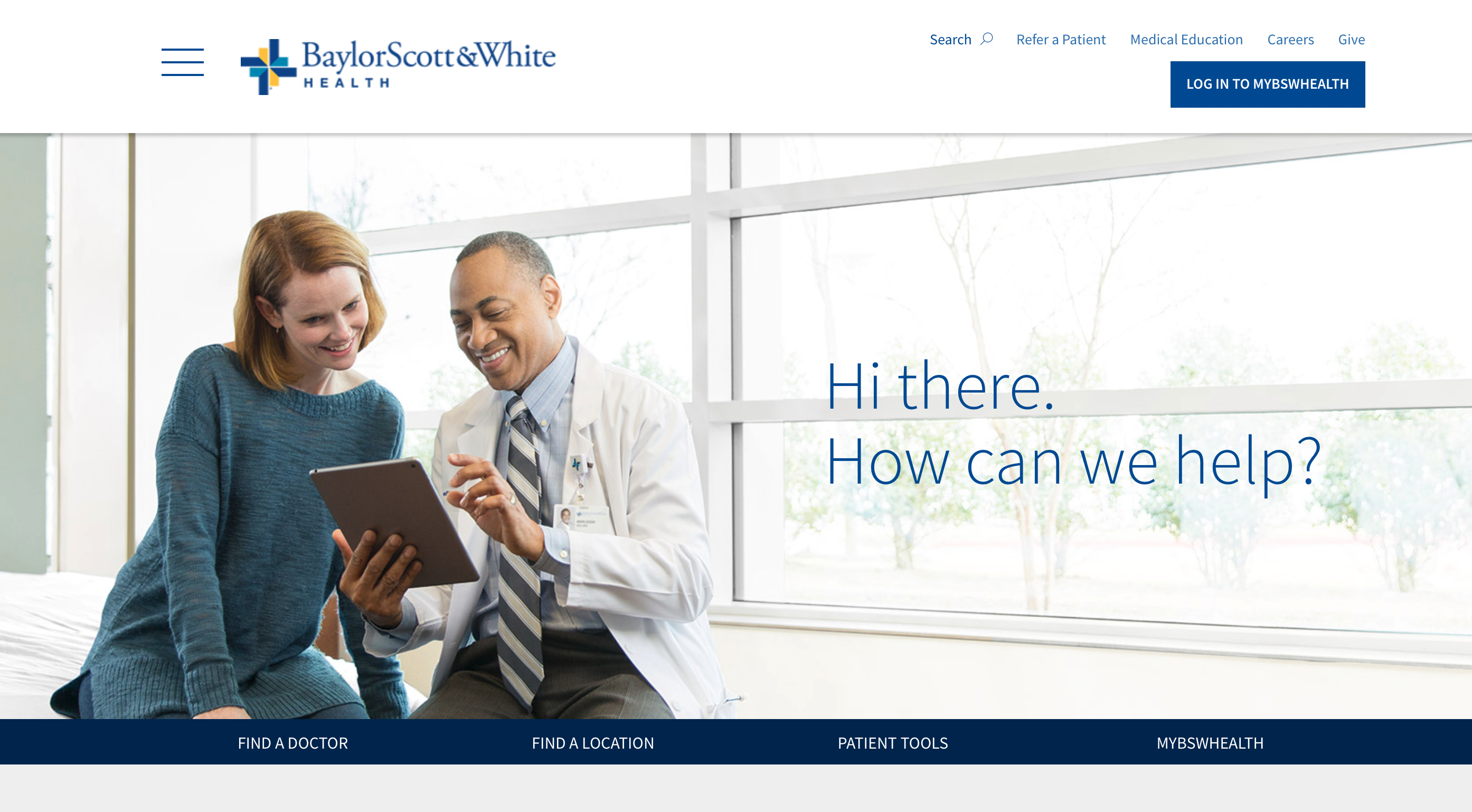 Best Healthcare Website Design - Baylor Scott & White Health